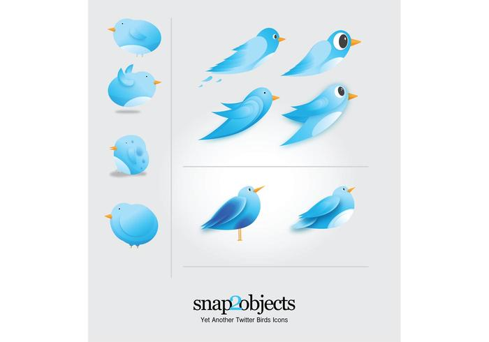 Free Twitter Birds Icons Vector