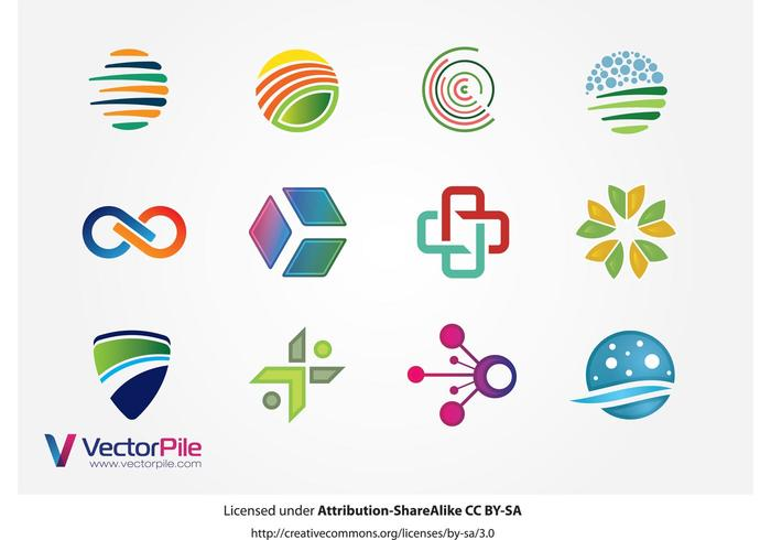 Mixed Logo Vector Design Elements