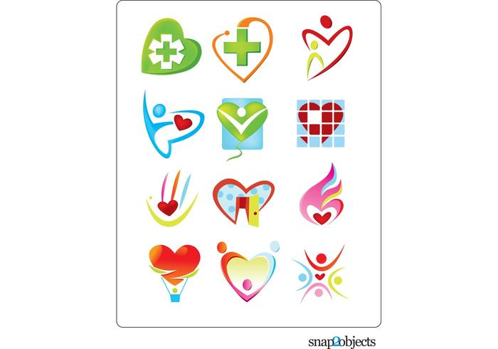 Free Vector Heart Shaped Logo Template