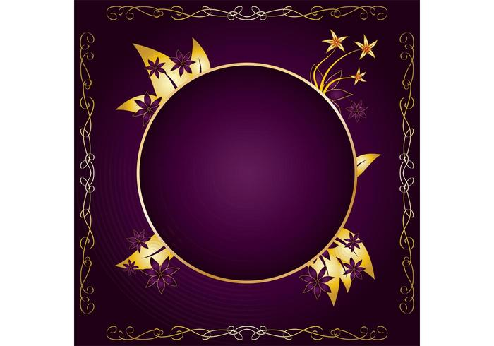 Gold Frame Design Vector