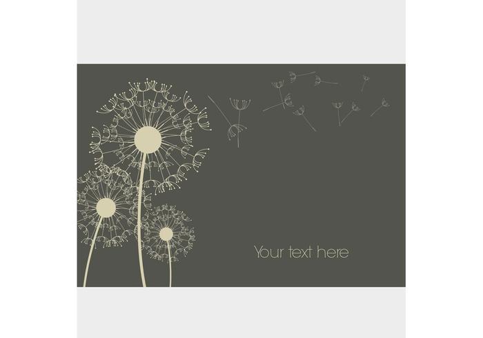 Dandelion Vector Background