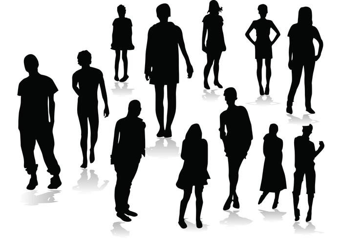 People Silhouettes Free Vector