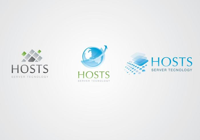 Server and Hosting Logo Templates