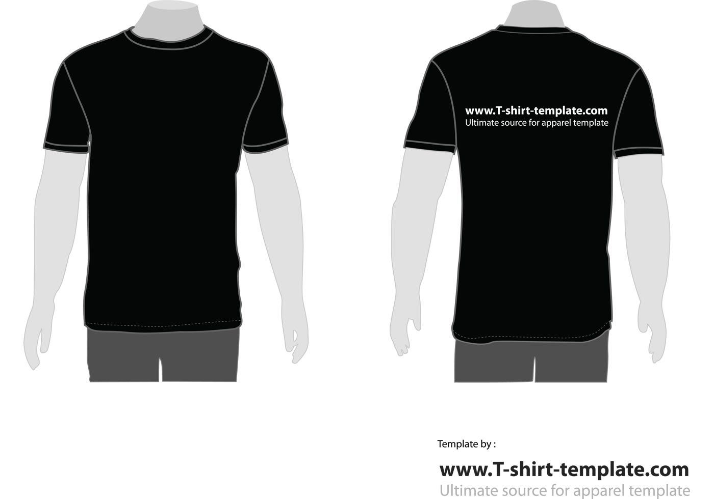 free vector moder t-shirt template front  u0026 back