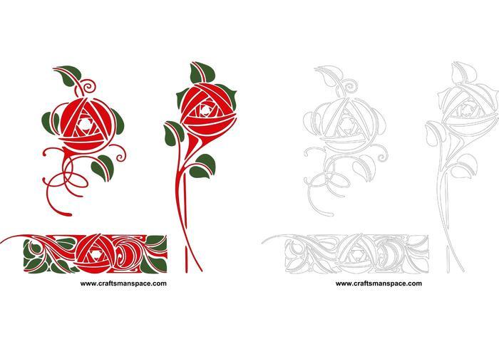 Artistic rose designs