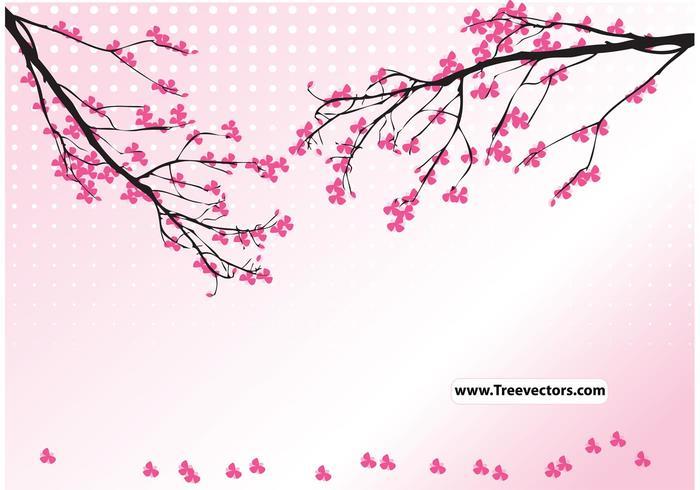 Vector de árbol de flor