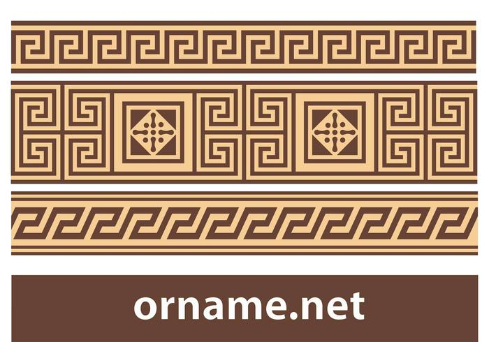 Free vector Greek ornament – meander