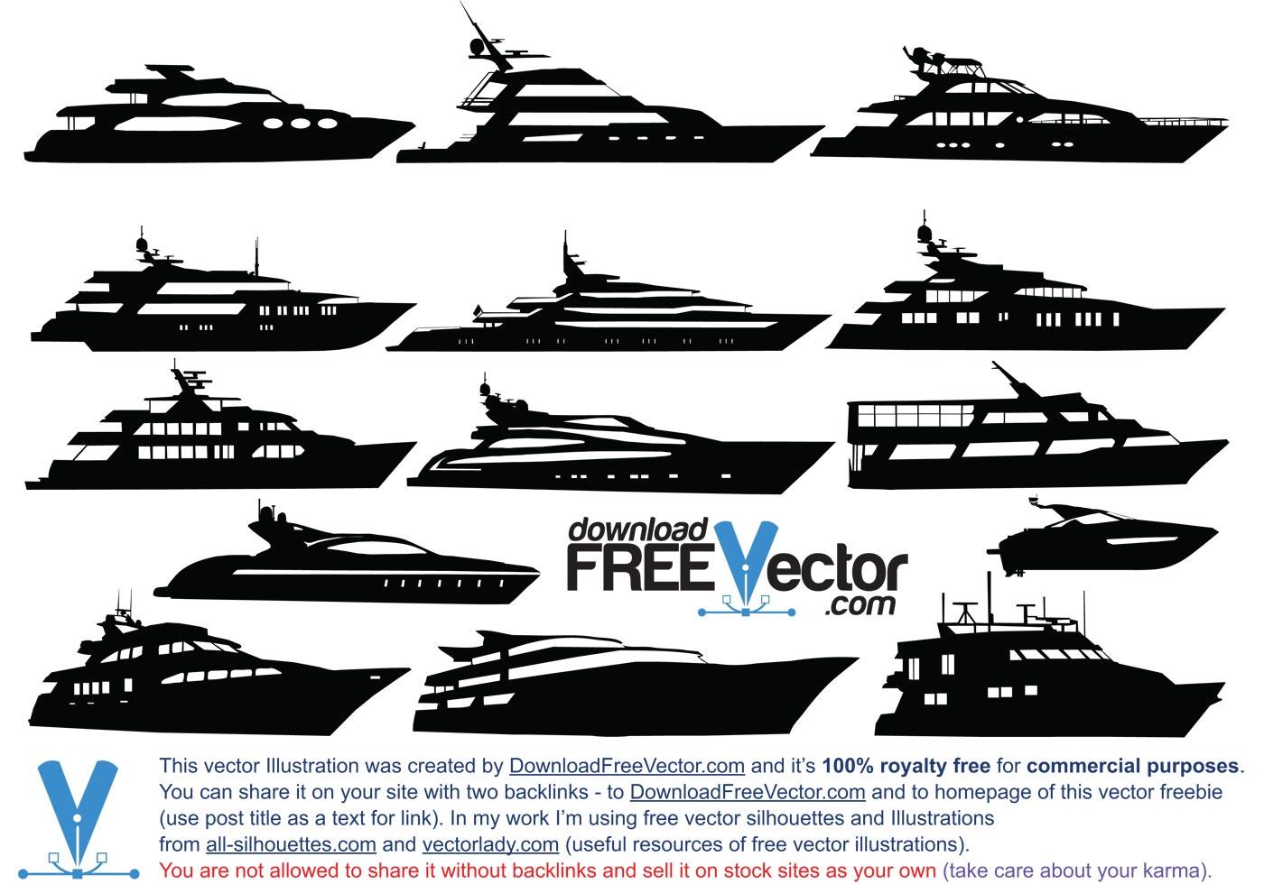 Vector Motor Yacht Download Free Vector Art Stock