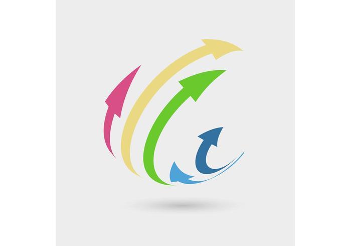 Conceito do logotipo de setas 3D
