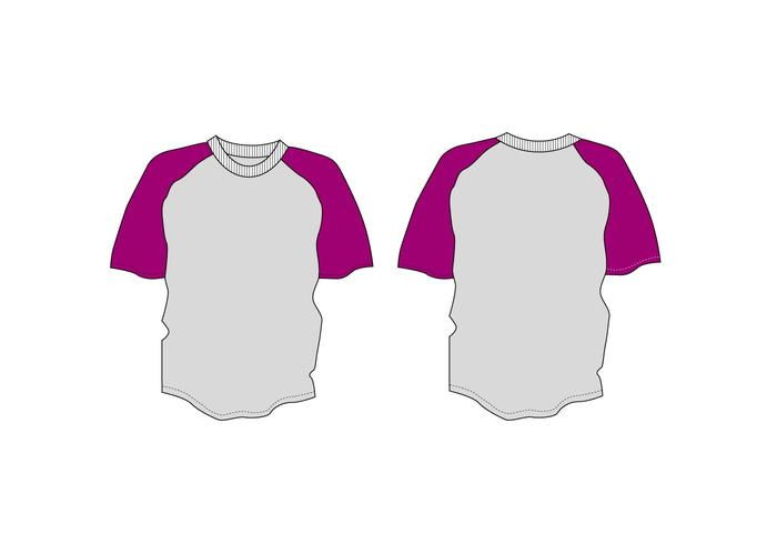 Plantilla de la camiseta del vector del raglán de la juventud