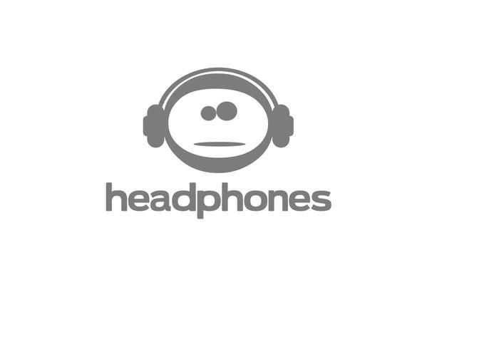 Logotipo de fones de ouvido de vetores