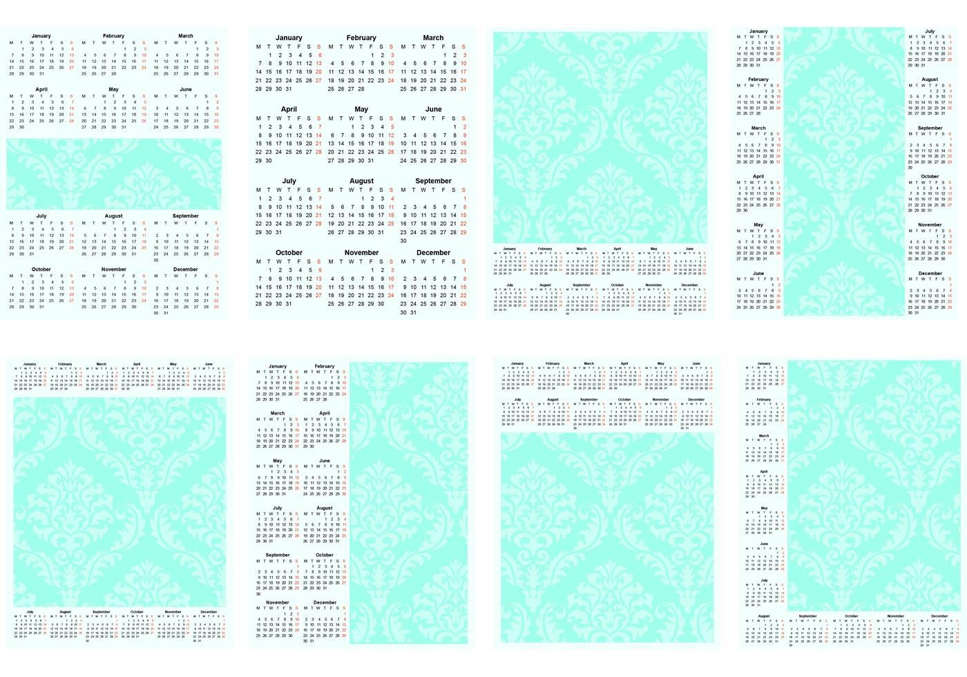 Calendar Template Vector : Vector template calendar download free art
