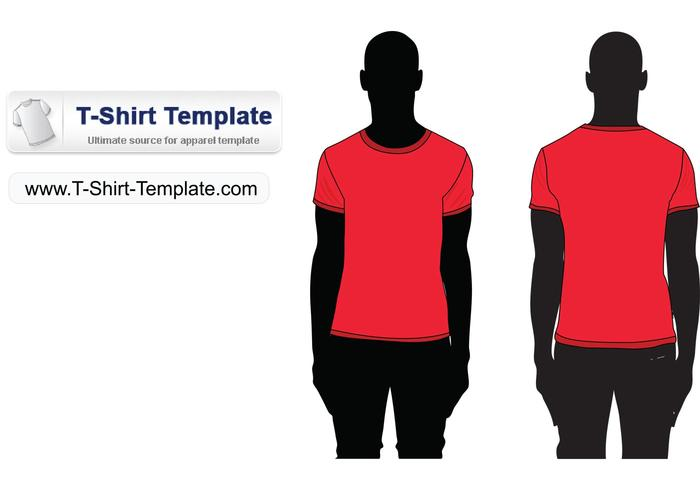Free Short sleeve T-shirt Template Illustrator - Download Free ...