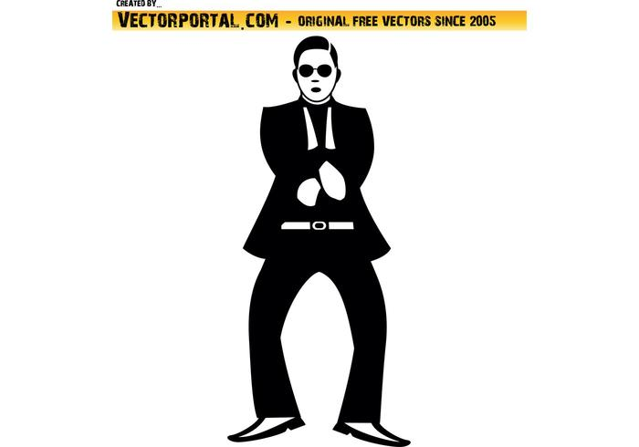 Gangnam estilo de baile de vectores