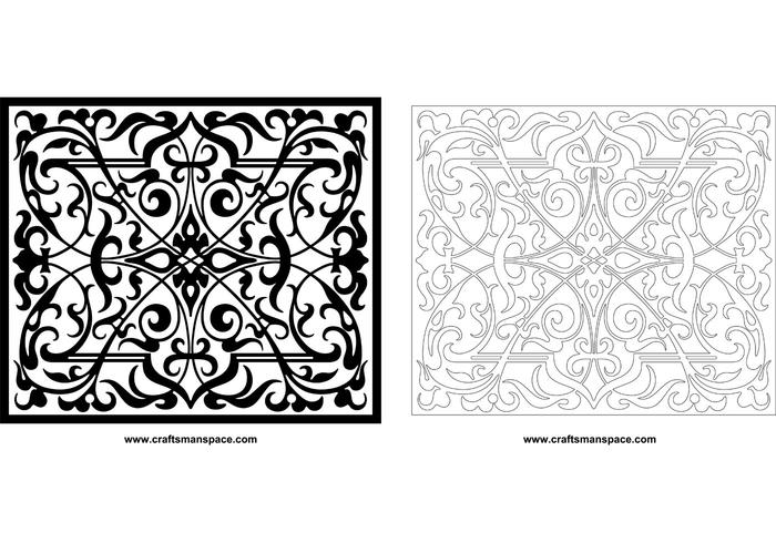 Decorative ornamental panel
