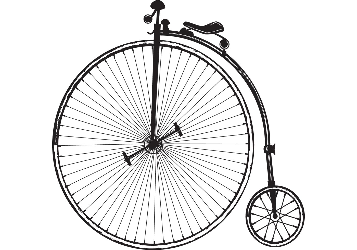 Old Fashioned Bike With Big Wheel