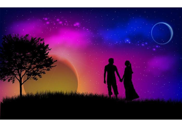 Illustration d'amour vectoriel