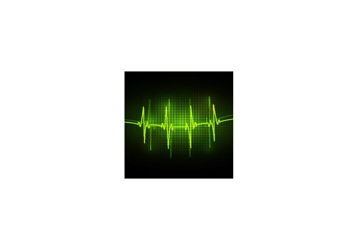 ECG abstract vector background