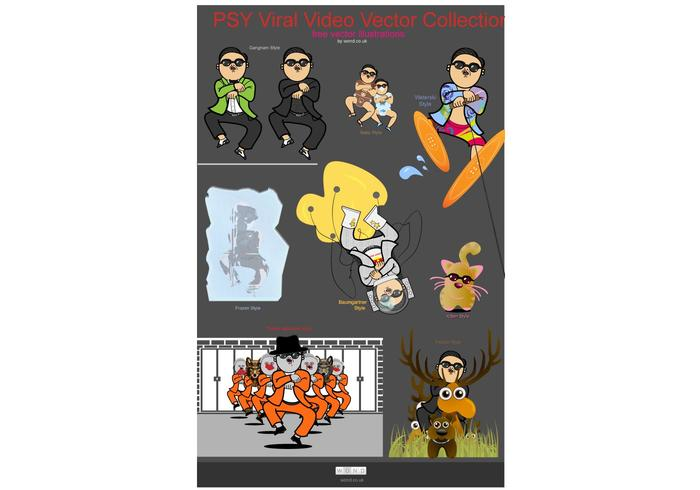 PSY Viral Video Vector Collection