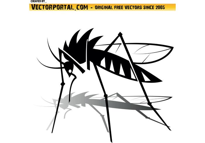 Libre Mosquito Vector Graphics