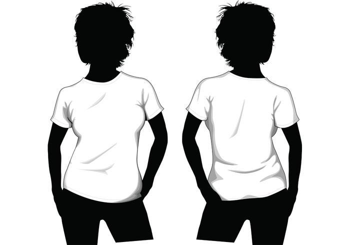 Mädchen-T-Shirt Schablone