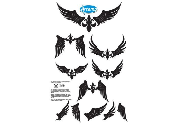 Enkla vingar vektorpack