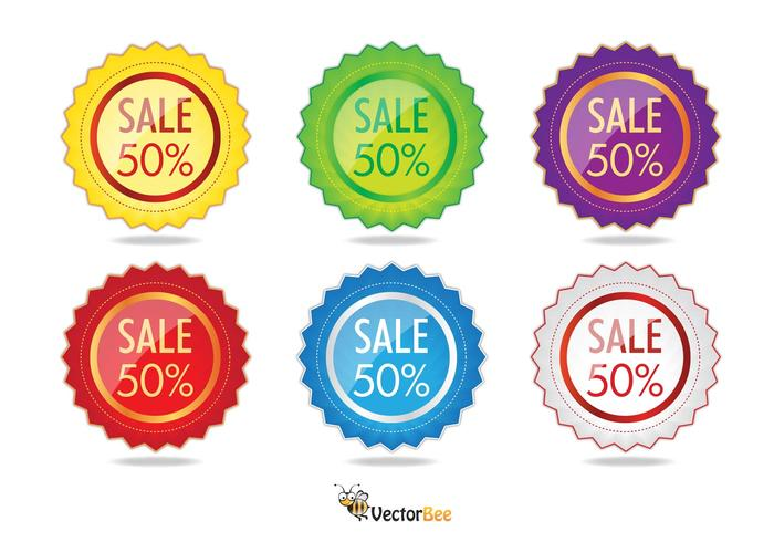 Sale Label Vectors