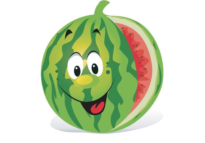 Karikatur Wassermelone