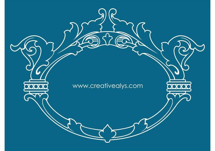 Beautiful Ornamental Design and Frame