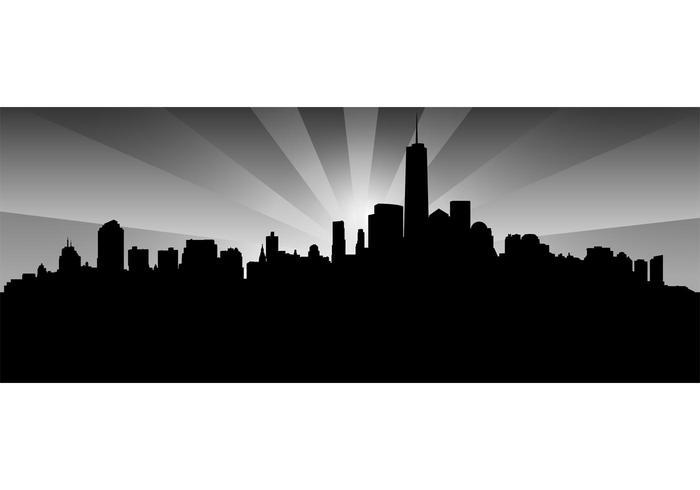 New york skyline graphique vectoriel gratuit