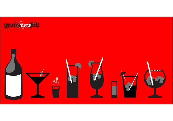Alkoholglasvektorer