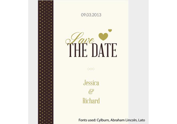 Gratis Vector Bröllop Inbjudan