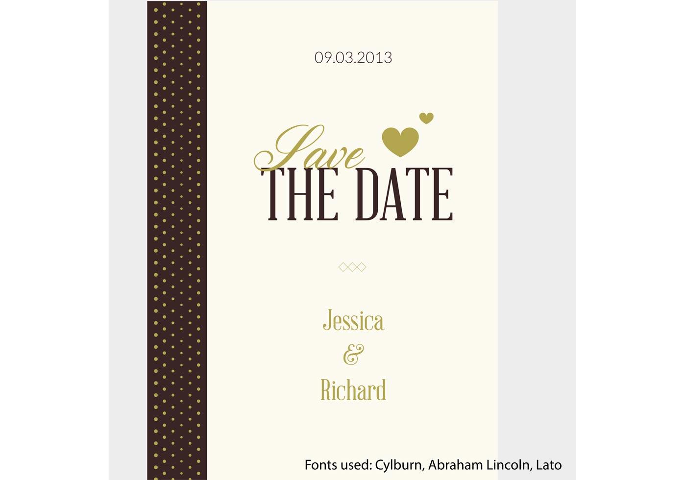 Vector Wedding Invitations: Free Vector Wedding Invitation