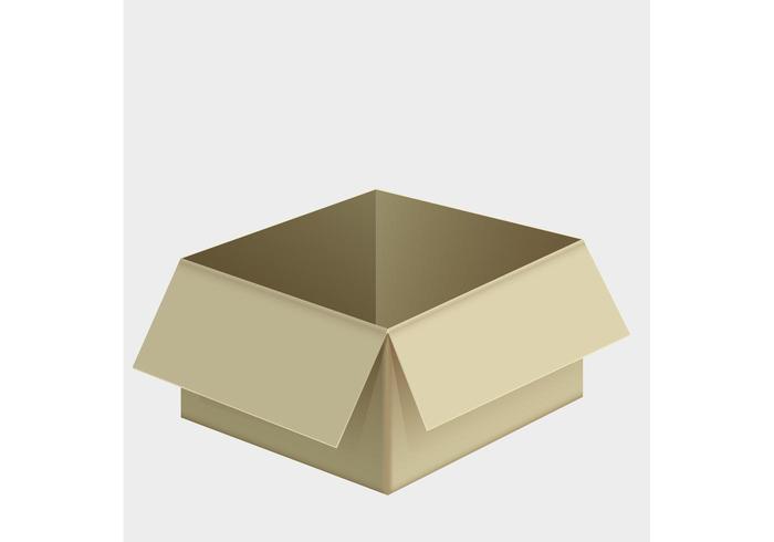 Free Cardboard Box Vector