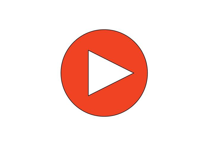 Video Play Button Vector