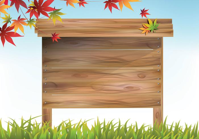 Vettore di legno del segno all'aperto