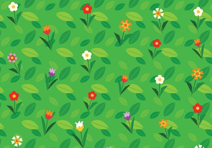 Cartoon Flower Background Vector