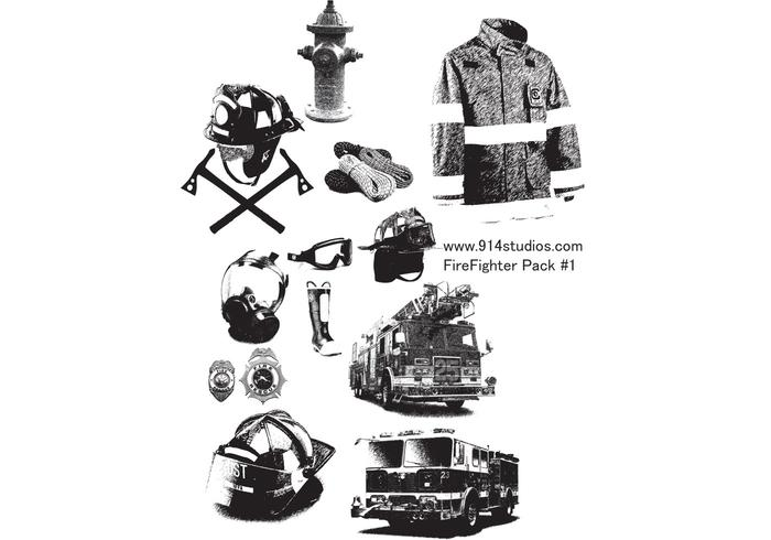 Fire Fighter Vector Pack