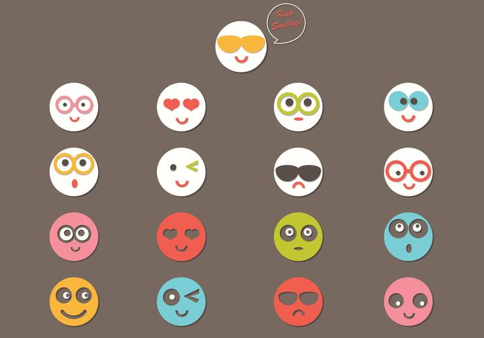 Cut Out 3D Emoticon Vector