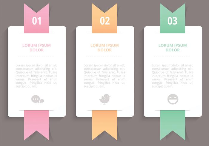 Vertical Ribbon Banners Vector