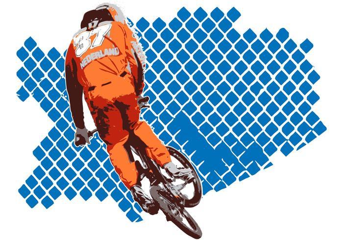 Free Vector BMX Racer