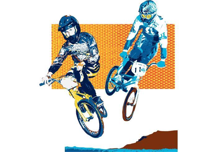 Biker Vector USA BMX Dual Style