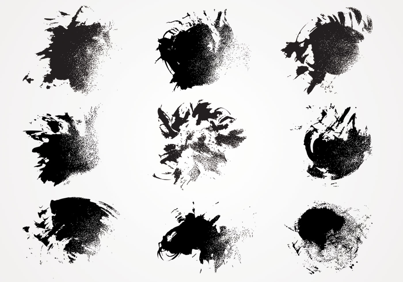 Ink Paint Texture Vector Pack Download Free Vector Art