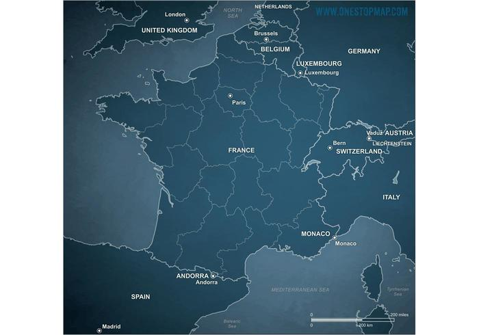 Free vector map of france gumiabroncs Choice Image