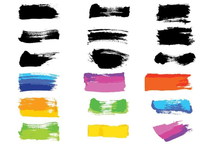 Paintbrush Strokes Vector Pack