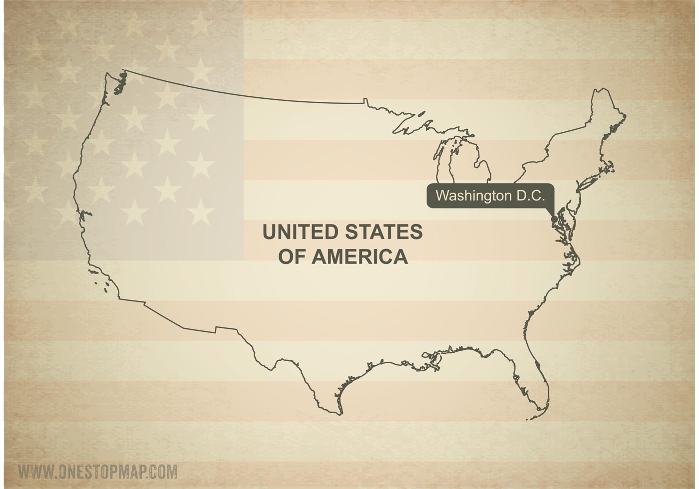 Free Vector Map Of United States Free Vector Art At Vecteezy - Us map free vector