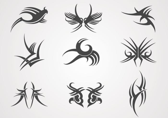 Tattoo Designs Vector Pack
