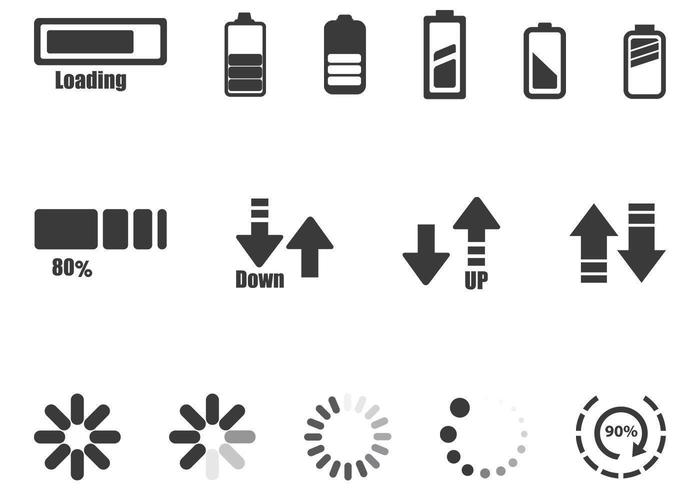 Progress Loader Indicator Vector Set