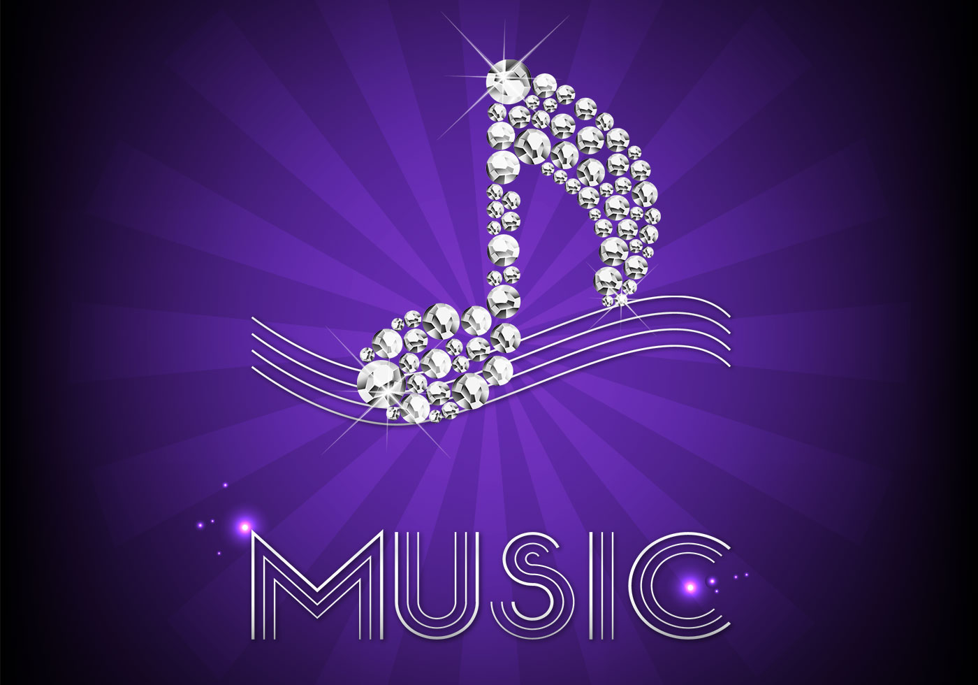 Diamond Music Note Background Vector - Download Free ...