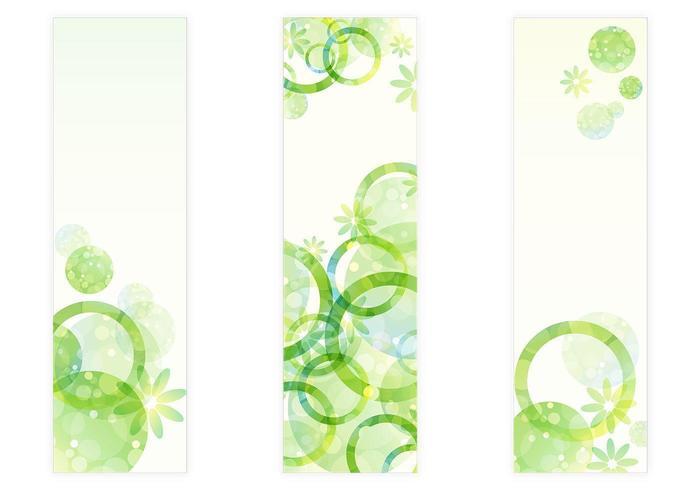 Vetores florais florais verdes frescos dos círculos verdes